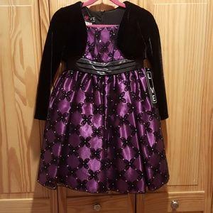Black and Purple Girls Dress